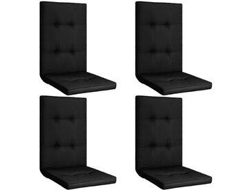 Coussins de chaise de jardin 4 pcs Noir 120x50x5 cm - vidaXL