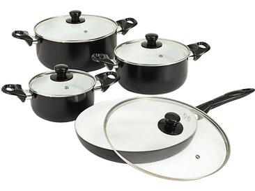 Ensemble d'ustensiles de cuisine 8 pcs Noir Aluminium - vidaXL