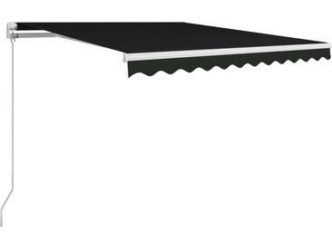 Auvent manuel rétractable 300x250 cm Anthracite  - vidaXL