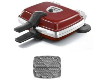 LAGRANGE 039511 Gaufrier electrique Super 2 - Rouge - vidaXL