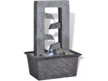 Fontaine d'intérieur avec lumière LED Poly-résine - vidaXL