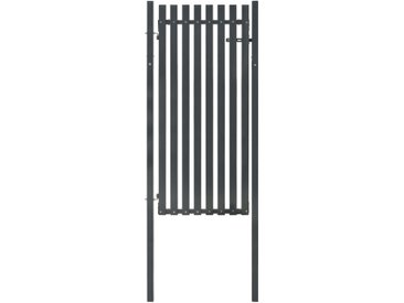 Portail de clôture Acier 103x225 cm Anthracite  - vidaXL