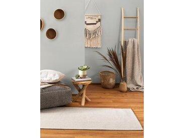 Tapis poil ras de couloir Cooper Gris clair 75x240 cm - Tapis poil court design moderne pour salon