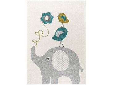 Tapis enfant Fantasia Bleu 80x150 cm - Tapis pour chambre d'enfants/bébé
