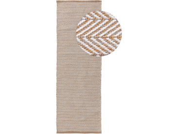 Tapis poil ras de couloir extérieur & intérieur Rio Marron clair 70x200 cm - Tapis poil court design moderne pour salon