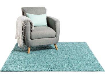 Tapis shaggy à poils longs Swirls Bleu clair 60x60 cm - Tapis descente de lit