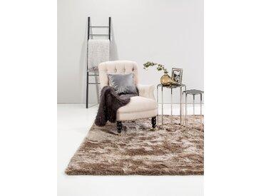 Tapis shaggy à poils longs Whisper Marron clair 60x60 cm - Tapis descente de lit