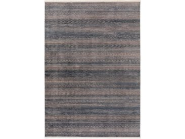Tapis Vintage Safira Bleu 160x235 cm - Tapis poil ras / effet usé
