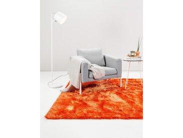 Tapis shaggy à poils longs Whisper Orange 60x60 cm - Tapis descente de lit