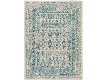 Tapis Vintage Antique Beige/Turquoise 240x340 cm - Tapis poil ras / effet usé