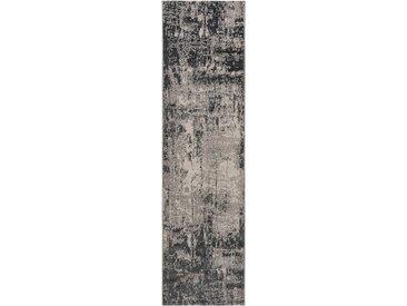 Tapis Vintage de couloir Antique Gris 80x200 cm - Tapis poil ras / effet usé