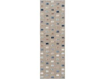 Tapis poil ras de couloir North Multicouleur/Beige 67x210 cm - Tapis poil court design moderne pour salon