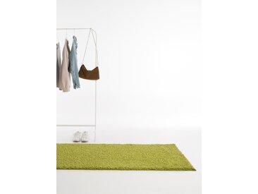 Tapis shaggy à poils longs Swirls Vert 80x300 cm - Tapis doux pour salon