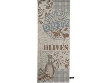 Tapis de cuisine Olives Bleu 80x200 cm - Tapis facile à entretenir