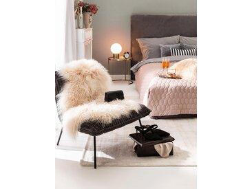 peau de mouton à poils longs wilson Beige 55x85 cm - Tapis poil court design moderne pour salon