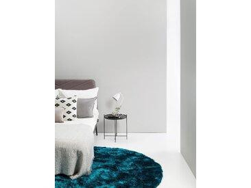 Tapis shaggy à poils longs Whisper Turquoise ø 160 cm rond - Tapis doux pour salon