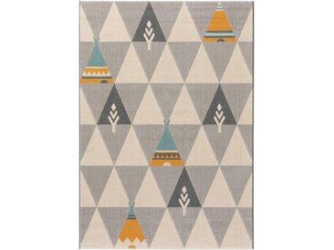 Tapis enfant Juno Beige 120x170 cm - Tapis pour chambre d'enfants/bébé