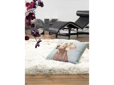 Tapis shaggy à poils longs Bright Blanc 70x140 cm - Tapis descente de lit