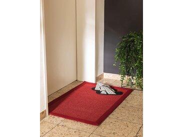 Essuie-pieds Sana Rouge 60x90 cm - Tapis poil court design moderne pour salon