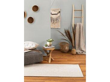 Tapis poil ras de couloir Cooper Crème 75x240 cm - Tapis poil court design moderne pour salon