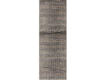 Tapis poil ras de couloir extérieur & intérieur Artis Anthracite 80x250 cm - Tapis poil court design moderne pour salon