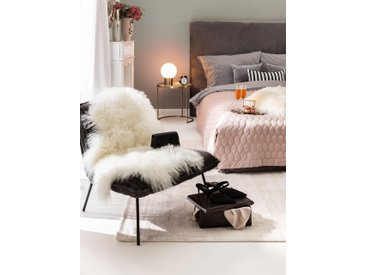 peau de mouton à poils longs wilson Blanc 55x85 cm - Tapis poil court design moderne pour salon
