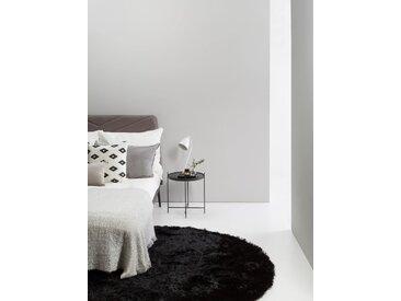 Tapis shaggy à poils longs Whisper Noir ø 160 cm rond - Tapis doux pour salon