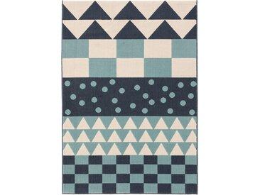 Tapis enfant Juno Multicouleur/Bleu 160x230 cm - Tapis pour chambre d'enfants/bébé