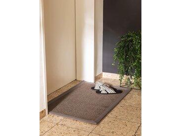 Essuie-pieds Sana Gris 40x60 cm - Tapis poil court design moderne pour salon
