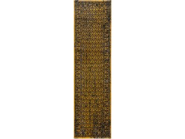 Tapis Vintage de couloir Antique Jaune 80x200 cm - Tapis poil ras / effet usé