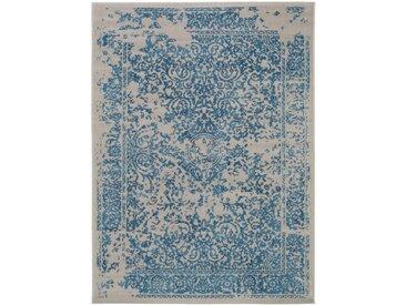 Tapis Vintage Antique Bleu 200x290 cm - Tapis poil ras / effet usé