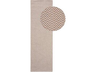 Tapis poil ras de couloir Cooper Taupe 75x240 cm - Tapis poil court design moderne pour salon