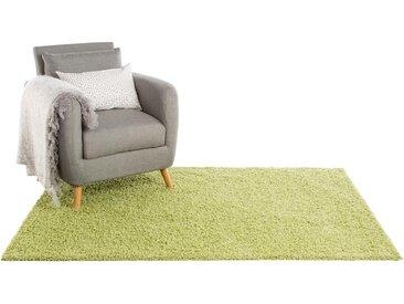 Tapis shaggy à poils longs Swirls Vert clair 133x190 cm - Tapis doux pour salon