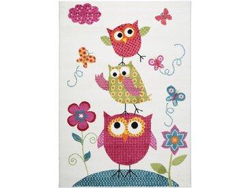 Tapis enfant Noa Kids Owls Family Multicouleur 140x200 cm - Tapis pour chambre d'enfants/bébé