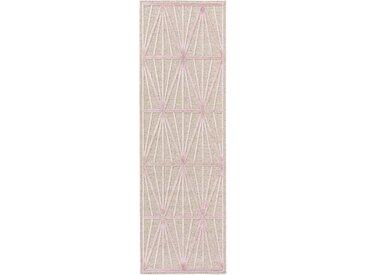 Tapis poil ras de couloir North Rose 67x210 cm - Tapis poil court design moderne pour salon