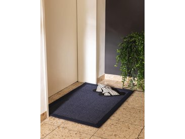 Essuie-pieds Sana Bleu 60x90 cm - Tapis poil court design moderne pour salon