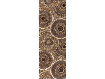 Tapis poil ras de couloir extérieur & intérieur Artis Marron 80x250 cm - Tapis poil court design moderne pour salon
