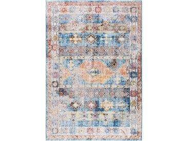 Tapis Vintage Tara Multicouleur/Bleu 200x290 cm - Tapis poil ras / effet usé