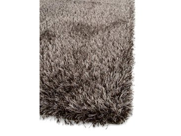 Tapis shaggy à poils longs Sophie Marron 60x115 cm - Tapis descente de lit