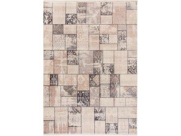 Tapis Vintage Safira Beige/Gris 133x185 cm - Tapis poil ras / effet usé