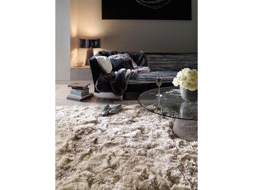 Tapis shaggy à poils longs Bright Beige 70x140 cm - Tapis descente de lit