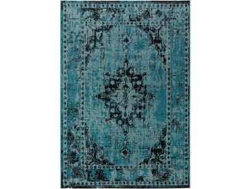 Tapis Vintage Antique Turquoise 140x200 cm - Tapis poil ras / effet usé