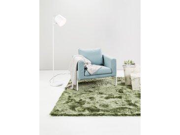 Tapis shaggy à poils longs Whisper Vert 60x60 cm - Tapis descente de lit