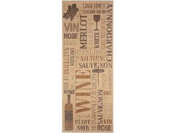 Tapis de cuisine Wine Beige 80x200 cm - Tapis facile à entretenir