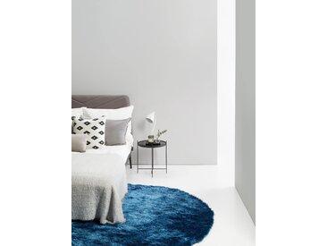 Tapis shaggy à poils longs Whisper Bleu ø 160 cm rond - Tapis doux pour salon