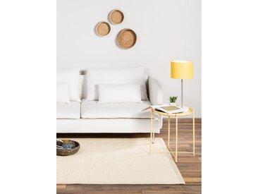 Tapis Sisal avec bordure Crème 150x150 cm - Tapis nature