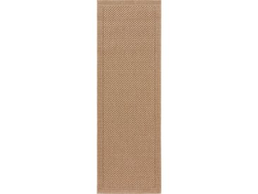 Tapis poil ras de couloir extérieur & intérieur Naoto Beige 80x240 cm - Tapis poil court design moderne pour salon