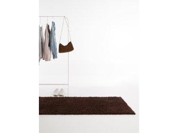 Tapis shaggy à poils longs Swirls Marron 80x300 cm - Tapis doux pour salon