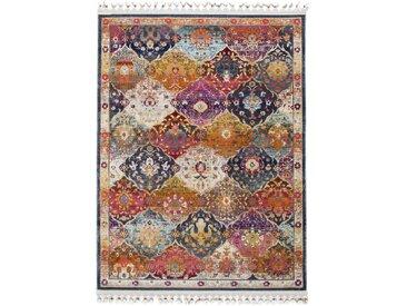 Tapis Vintage Simsala Multicouleur 80x140 cm - Tapis poil ras / effet usé
