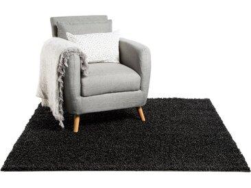 Tapis shaggy à poils longs Swirls Anthracite 60x60 cm - Tapis descente de lit